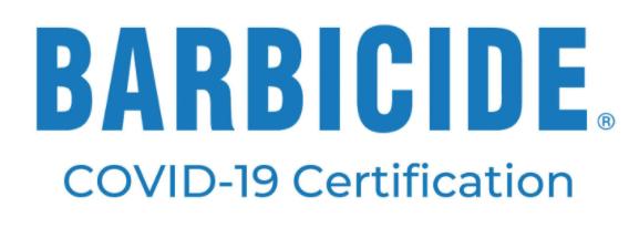Barbicide Covid 19 certification