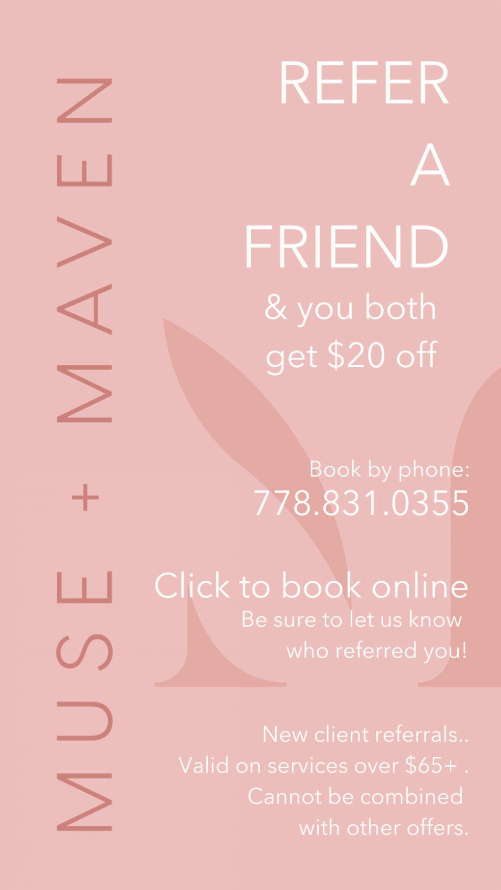 Refer a Friend Book Now Promo